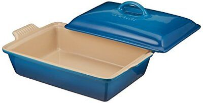 Le Creuset Heritage Stoneware 12-by-9-Inch Covered Rectangular Dish, Marseille - Marseille Rectangular Dish