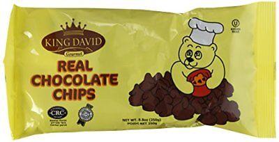 King David Kosher NonDairy Vegan Lactose Free Dark Chocolate Chip 8.8oz (4 Pack)
