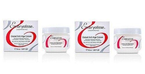 2 Lot Of 2 Embryolisse Global Anti-Age Cream 50 Ml Each Fast - $20.99