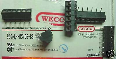 New..... Weco 950 Terminal Pcb 1x6 Screw Right Angle 5mm Spacing Qty 100