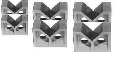 3 Pairs 3 4 And 5 Cast Iron V- Blocks Set