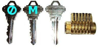 Practice Lock Master Keyed Cutaway Locksmith Handy Man Training