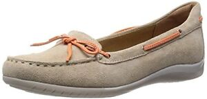 Geox Women's D Xense Light Mocassin, Taupe/Orange