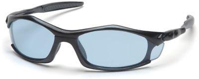 Pyramex Solara Safety Glasses with Black Frame and Infinity Blue (Solara Glasses)
