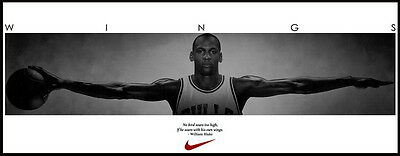 "60 Michael Jordan Wings NBA Basketball MVP Star Art 61""x24"" Poster"