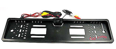 Number Plate Holder Frame Colour Reversing Camera With Parking Guide Lines PAL