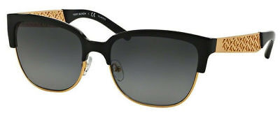 Tory Burch TY6032 3111T3 56 Women Sunglasses - Black/Gold (Tory Burch Oversized Square Sunglasses)