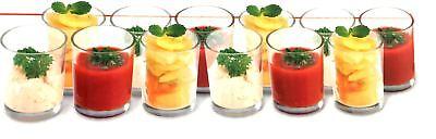 Caja De 12 X Cristal Aperitivos Vasos de Chupito Postre Cóctel Fruta...