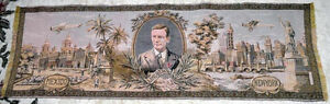 Airplane - 90 years old vintage Charles Lindbergh Tapestry