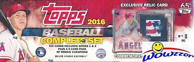 2016 Topps Baseball Excusive 706 Cards Mike Trout Stamp Relic Factory Set 5 Var