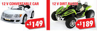 Dirt Racers & Convertable Cars On Sale Now from $130