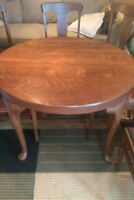 Quatersawn OAK Dining Table *6 Chairs*
