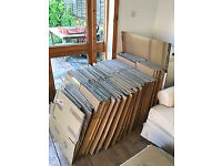 Twin wall cardboard boxes, about 50 of them, excellent quality 45x42x25cm, used