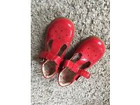 Red M&S Childrens shoes