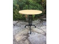 9 cafe tables unused and boxed - 3 large; 6 small (can sell separately)