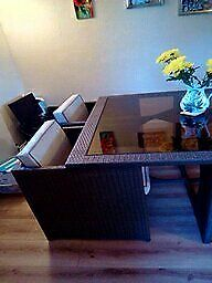 Rattan Dining Table and 4 Chairs £175