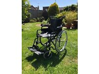 """Enigma Steel folding Wheelchair with 24"""" rear pneumatic tyres"""