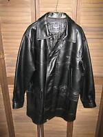Man's Leather Fall Coat (NEW) Size M