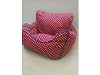 GLTC Red Stars Children's Bean Bag Chair