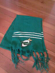 Sask Roughrider  football scarf  x 3 x 5 flags