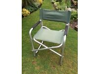 Directors chairs, Aluminium/green; set of 5
