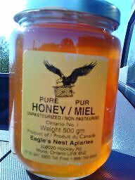 Homemade honey for sale!
