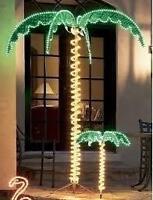 """7 Ft """"Super Brite"""" Led Tropical Palm Tree NIB"""