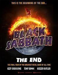 2 x Black Sabbath Gold Circle tickets Birmingham 2nd Feb