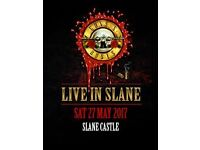 2 x Slane Castle Guns N Roses Gold Circle ticket £125 each