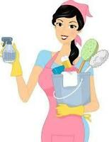 Femme de ménage minutieuse