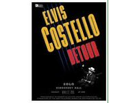2 x Row A Circle seats for Elvis Costello @ Festival Theatre Saturday 18th March Face Value £46 each