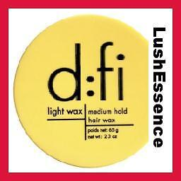 D:FI Light Wax Medium Hold Hair Wax 2.3 oz