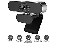 Webcam with Microphone 1080P HD Streaming for PC,MAC and Laptop USB Connectivity