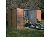 12 x 10 Woodvale Metal Apex Shed. New. Flatpack. Pick up today.