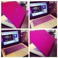 Women purple Macbook