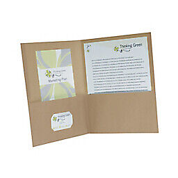 Oxford - Report Cover - Earthwise 8-1/2 X 11 , 100 Recycled, Natural, Oxford - $43.70