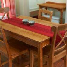 Pine dining table and four chairs North Strathfield Canada Bay Area Preview