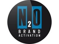 Looking for flexible, part-time work? Become a N2O Brand Ambassador- £9-11 p/h