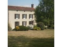 Beautiful 4 bedroom stone built house in the Vendee, south facing terrace, garage and outhouse