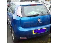 Blue Fiat Punto
