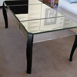 ICONIC GLASS COFFIE TABLE (1 of 2) - beautifully created in mint condition