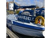 Live aboard sailing boat for rent in Brighton marina.