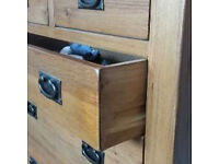 Four Piece Solid Wood Bedroom Furniture Set