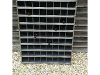 vintage pigeon holes / wine rack/ stripped and polished