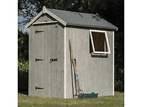 6 x 4 Heritage Apex Wooden Garden Shed. Ready Built. PICK UP TODAY