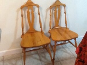 Wooden Dining Chairs (2)