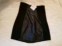 Anne Summers In Control Glitter Skirt Size 8 Small Black & Glitter New With Tags