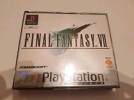Final Fantasy 7 PS1 game