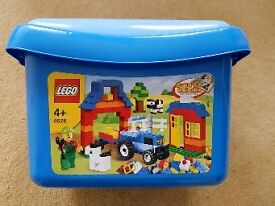 Lego Age 4+ in storage box.