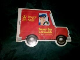 Postman pat book, helicopter and figure